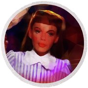 Judy Garland Round Beach Towel