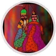 Round Beach Towel featuring the digital art Jugalbandi by Latha Gokuldas Panicker