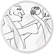 Juggling Osiris Round Beach Towel