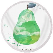 Juicy Pear Round Beach Towel