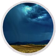 July Monsoons Round Beach Towel