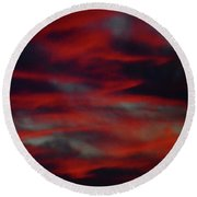 July Sky Round Beach Towel