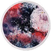 July Round Beach Towel