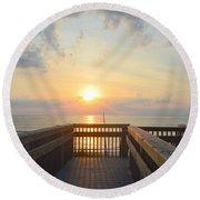 June 17th Sunrise Round Beach Towel