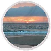 June 20 Nags Head Sunrise Round Beach Towel