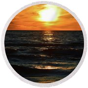 June 21 - 2017 Sunset At Wasaga Beach  Round Beach Towel