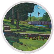 June Afternoon At Chaffeys Round Beach Towel