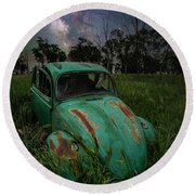 Round Beach Towel featuring the photograph June Bug by Aaron J Groen