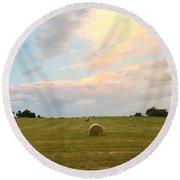 June Hay Round Beach Towel by Christine Lathrop