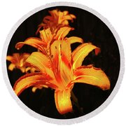 June Lily Round Beach Towel