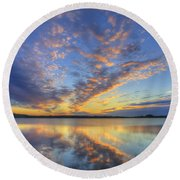June Morning Round Beach Towel