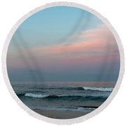 June Sky Seaside New Jersey Round Beach Towel