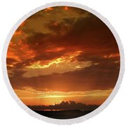 June Sunset Round Beach Towel
