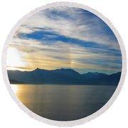 Juneau, Alaska Round Beach Towel
