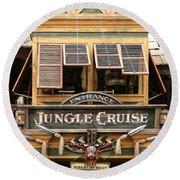 Jungle Cruise - Disneyland Round Beach Towel
