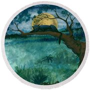 Jungle Panther Round Beach Towel