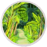 Jungle Path Round Beach Towel by Jean Pacheco Ravinski
