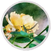 Jungle Rose Round Beach Towel