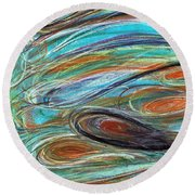 Jupiter Explored - An Abstract Interpretation Of The Giant Planet Round Beach Towel