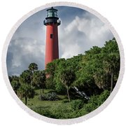 Jupiter Inlet Lighthouse Round Beach Towel