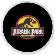 Jurassic Park T-shirt Round Beach Towel