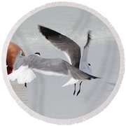 Just A Day At The Beach Jdabp Round Beach Towel