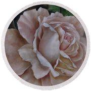 Just A Rose Round Beach Towel by Katia Aho