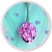 Just A Spoonful Of Petals  Round Beach Towel