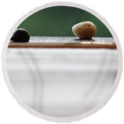 Just A Stones Throw Away Round Beach Towel