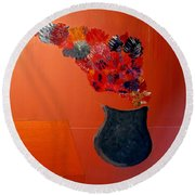Just A Thought  Bill Oconnor Round Beach Towel by Bill OConnor