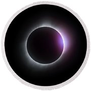 Just After Totality - Solar Eclipse August 21, 2017 Round Beach Towel