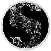 Round Beach Towel featuring the photograph Just An S by Wendy Wilton