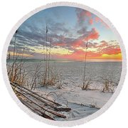 Just Another South Walton Sunset Round Beach Towel by JC Findley