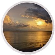 Just Another Spectacular Florida Summer Sunset Round Beach Towel