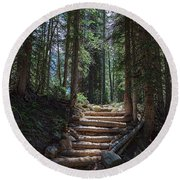 Round Beach Towel featuring the photograph Just Another Stairway To Heaven by James BO Insogna