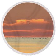 Just Before Sunrise 2  Round Beach Towel