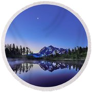 Round Beach Towel featuring the photograph Just Before The Day by Jon Glaser