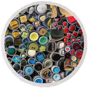 Just Buttons Round Beach Towel