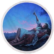 Just For A Moment Round Beach Towel