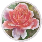Just Joey Rose From The Acrylic Painting Round Beach Towel