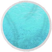 Round Beach Towel featuring the photograph Just Teal by JC Findley