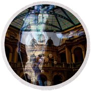 Round Beach Towel featuring the photograph Justice Is Blind by Al Bourassa