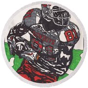 Justin Blackmon 2 Round Beach Towel by Jeremiah Colley