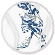 Justin Turner Los Angeles Dodgers Pixel Art 10 Round Beach Towel