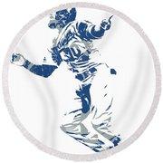 Justin Turner Los Angeles Dodgers World Series Homerun Round Beach Towel