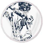 Justin Upton Detroit Tigers Pixel Art 2 Round Beach Towel