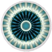 Jyoti Ahau 101 Round Beach Towel by Robert Thalmeier