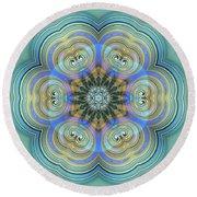 Round Beach Towel featuring the digital art Jyoti Ahau 140 by Robert Thalmeier