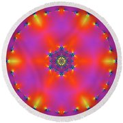 Jyoti Ahau 182 Round Beach Towel by Robert Thalmeier