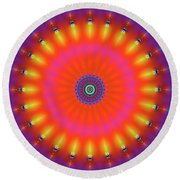 Jyoti Ahau 184 Round Beach Towel by Robert Thalmeier